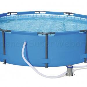 Fémvázas medence 366 x 100 cm szűrővel STEEL PRO MAX