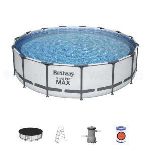 Fémvázas medence 457 x 107 cm készlet STEEL PRO MAX