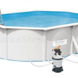 Hydrium merevfalú medence készlet HOMOKSZŰRŐVEL, 5 m * 3,6 m * 1,2 m Bestway