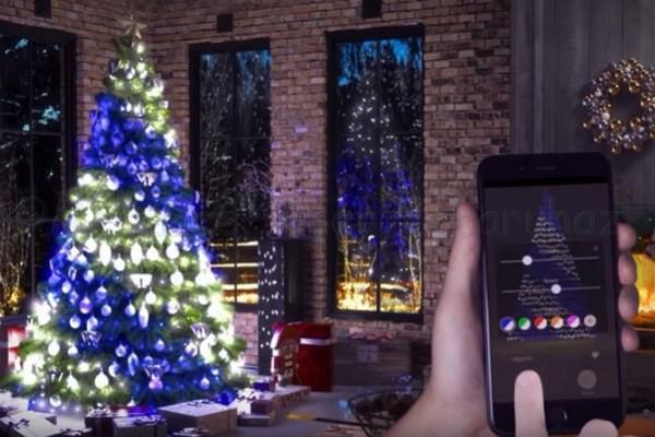 Twinkly, telefonról vezérelhető okos fényfüzér 250 LED RGB