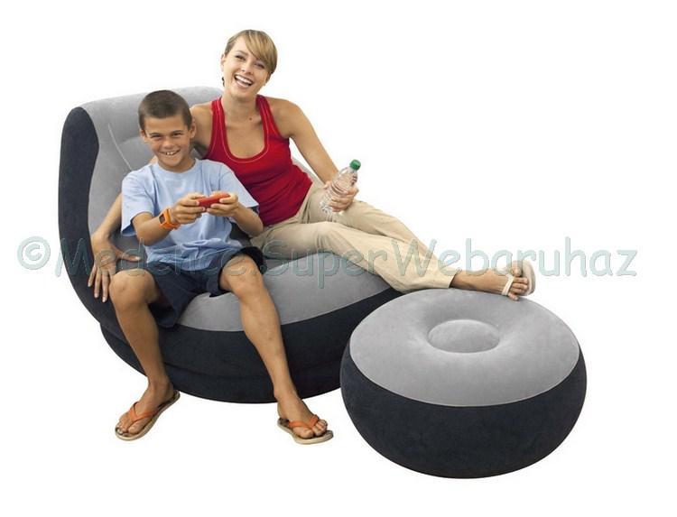 Ultra Lounge felfújható fotel lábtartóval