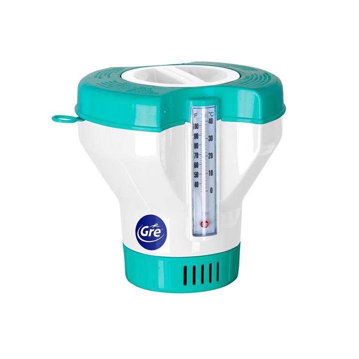 Úszó vegyszeradagoló beépített hőmérővel, GRE