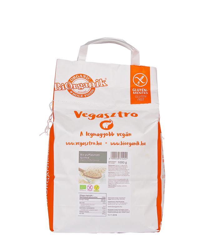 BiOrganik BIO puffasztott quinoa 1kg VEGASZTRO