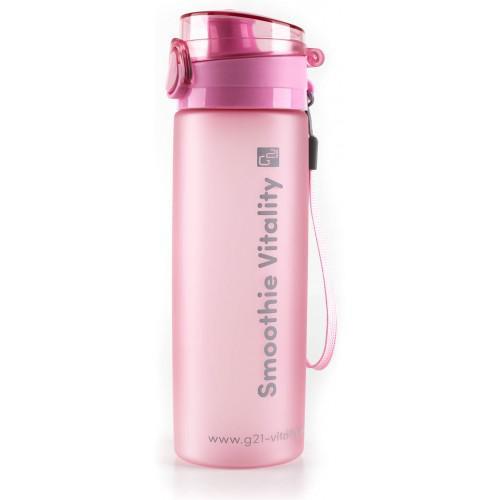 G21 smoothie/juice palack, 600 ml, jeges rózsaszín
