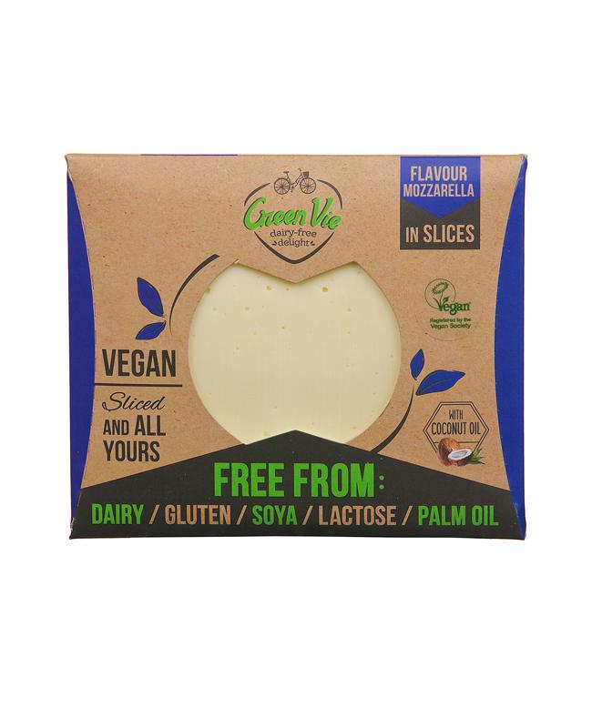 Green Vie mozarella olvadós növényi szendvicsfeltét -szeletelt 180g