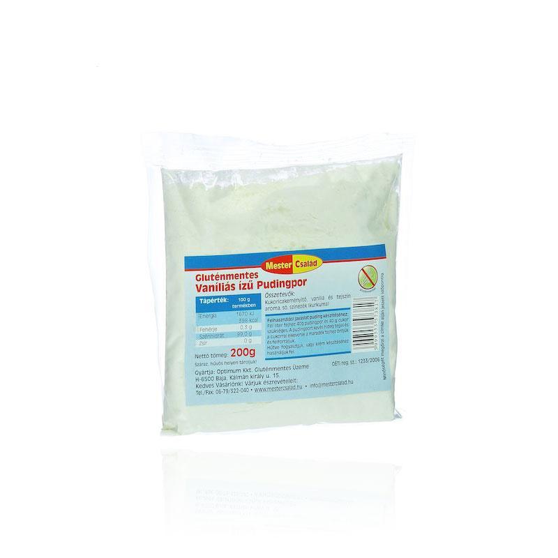 Mester Család gluténmentes vaníliás ízű pudingpor 200g