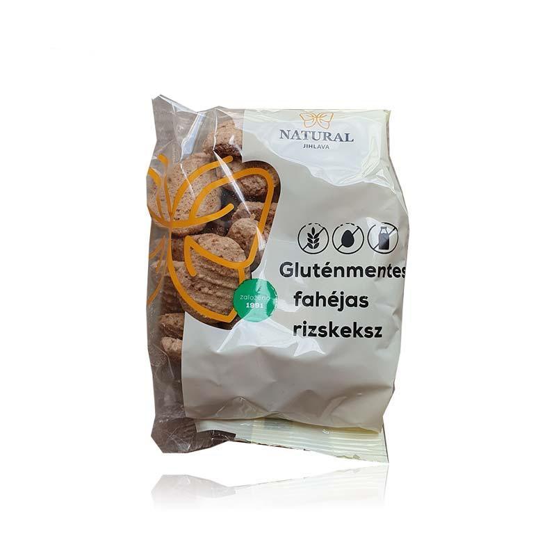 Natural gluténmentes fahéjas rizskeksz 150g