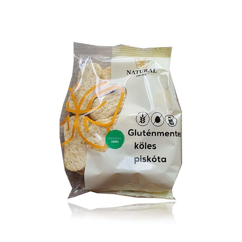 Natural gluténmentes köles piskóta 150g