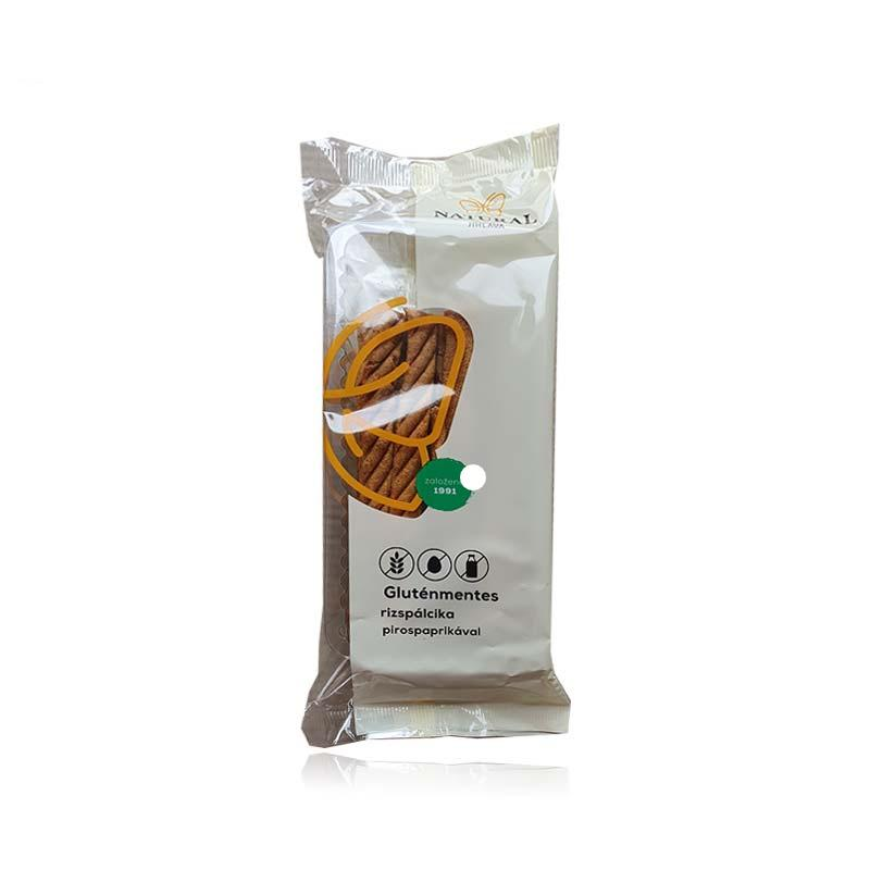 Natural gluténmentes rizspálcika pirospaprikával 150g