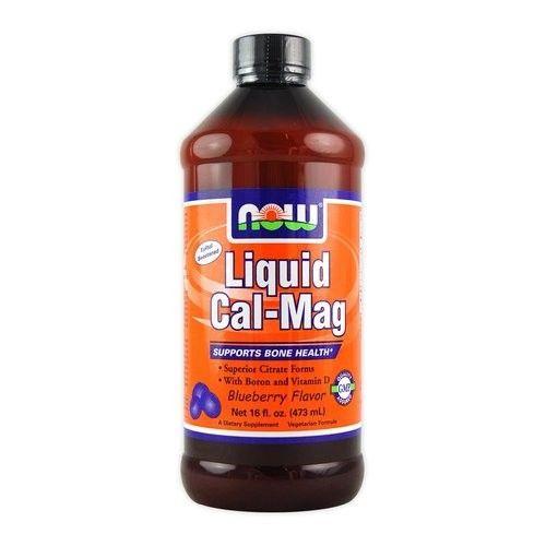 Now Liquid (folyékony) Cal-Mag bórral és D-vitaminnal - 473 ml