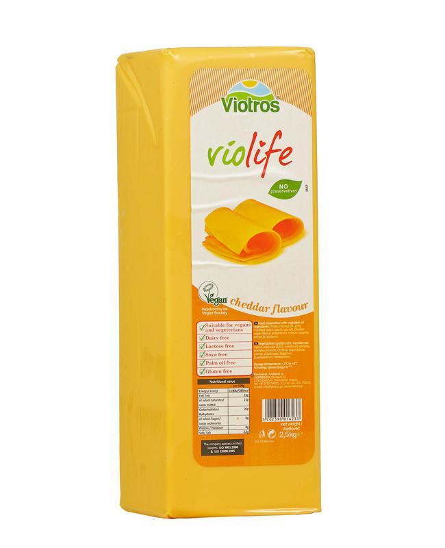 Violife cheddar növényi szendvicsfeltét 2,5kgx5 H