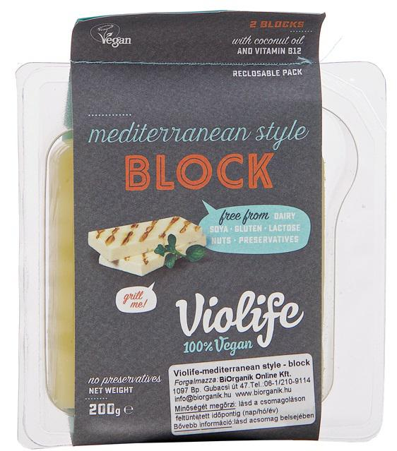 Violife Grill Me! mediterrán stílusú növényi szendvicsfeltét 200g