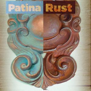 Patina és rozsda festék