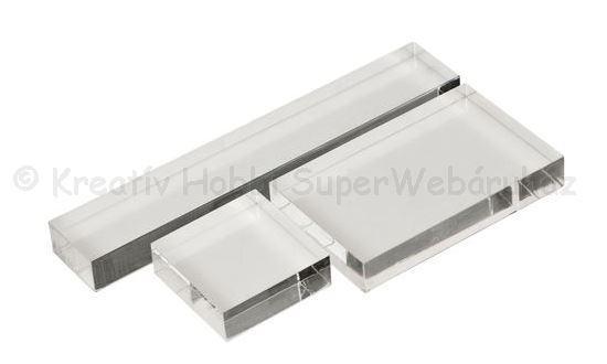 Akril blokk szilikonbélyegző alap, 3 db-os készlet