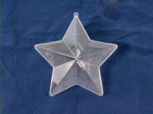 Akril csillag 10 cm, elválasztó betétlappal