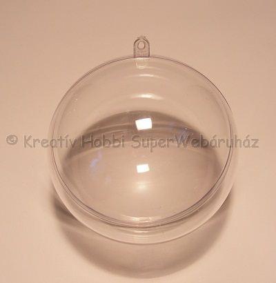Akril gömb 8 cm Ø,  elválasztó betétlappal
