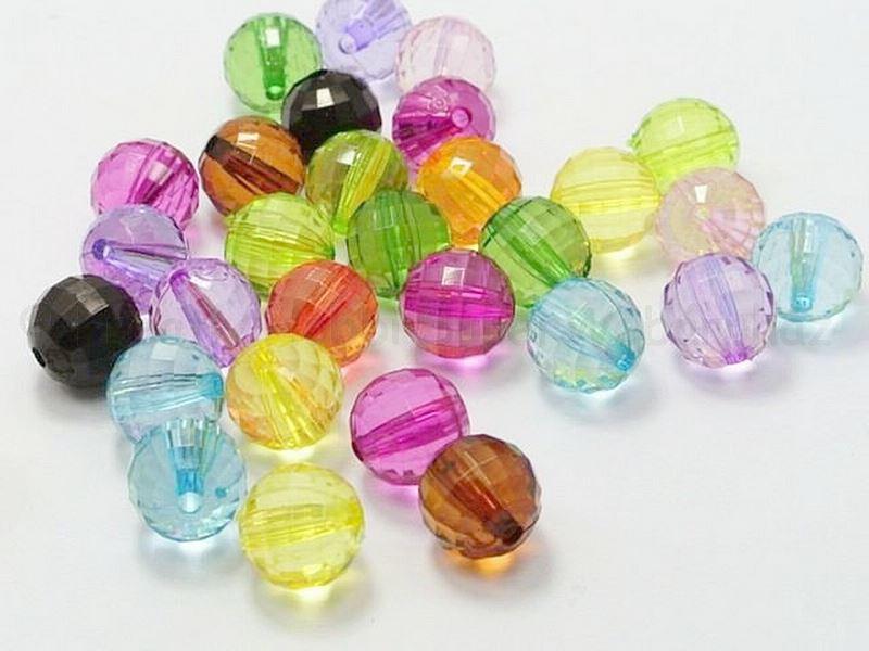 Akril gyöngy - gömb csiszolt, 6 mm 20 db