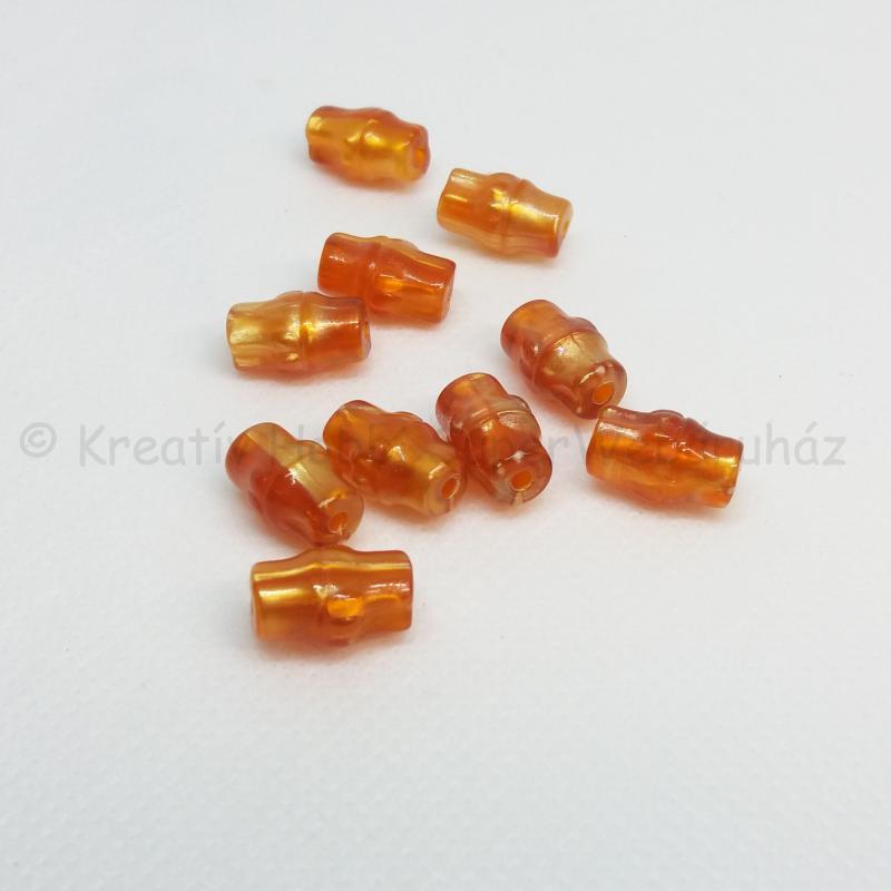 Akril gyöngy - hordó, narancs