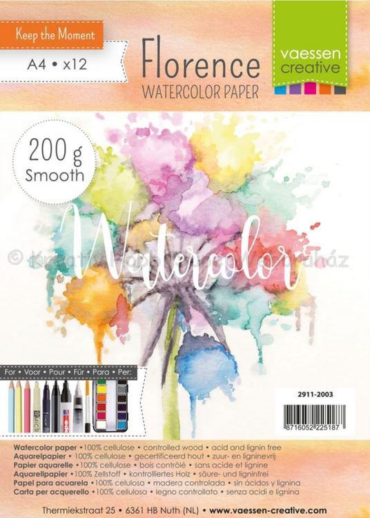 Akvarell papír A4 200 g, 12 db/csomag - Florance