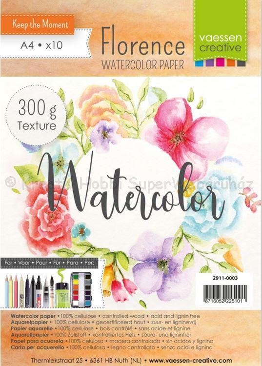 Akvarell papír A4 300 g, 10 db/cs - Florance