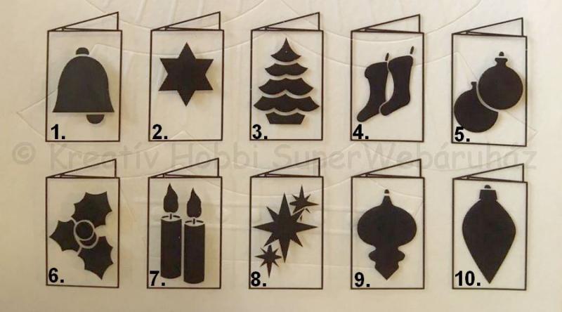 Embossed paszpartu üdvözlőkártya borítékkal - karácsony