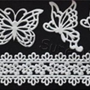 Szilikon öntőforma - csipke és pillangó