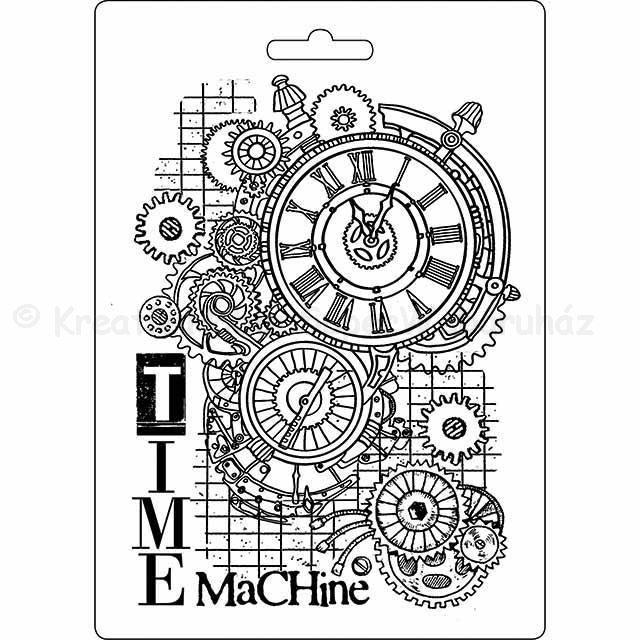Felületmintázó- textúra lap, A5 - időgép