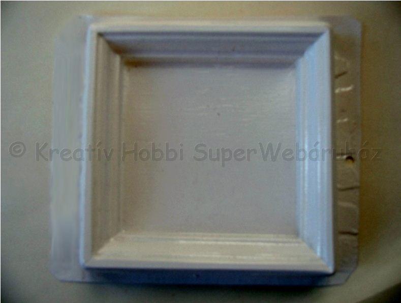 Gipszkiöntő képkeret 13 cm x 13 cm