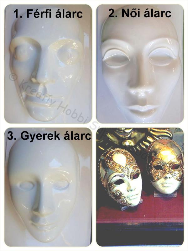 Gipszkiöntő - maszkok I.
