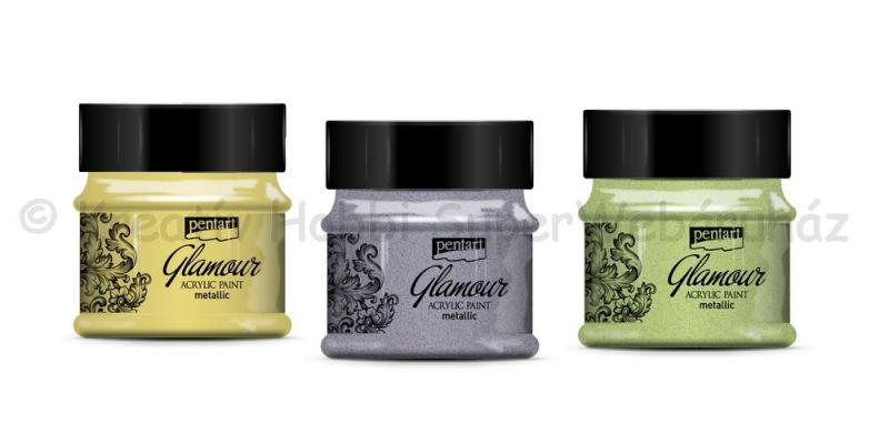 Glamour metál akrilfesték 50 ml