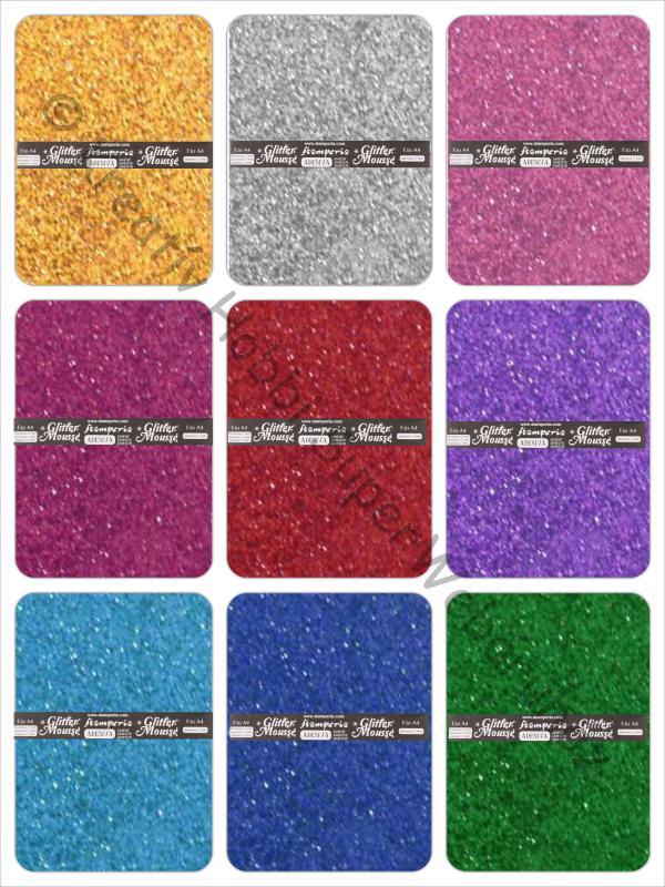 Glitteres öntapadó dekorgumi 2 mm, A4  Stamperia