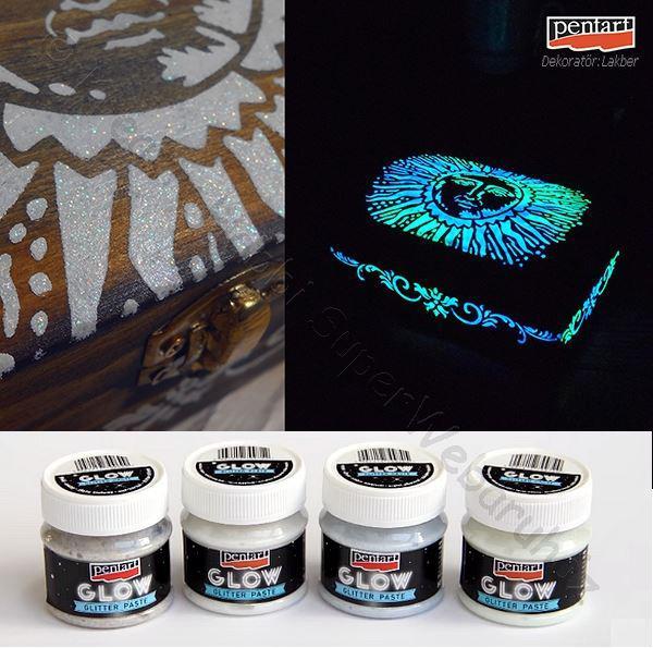 Glitterpaszta 50 ml - sötétben világító