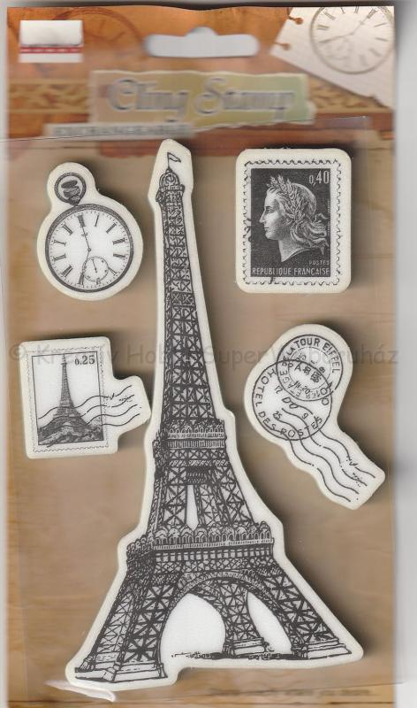 Gumi pecsételő - Eifell torony, postcard