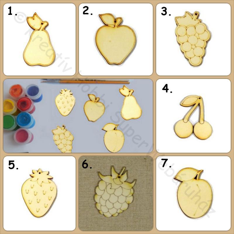 Gyümölcs fafigura többféle