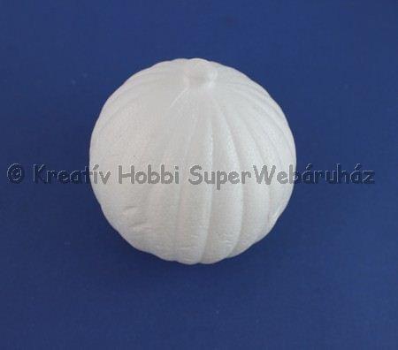 Hungarocell (polisztirol) gömb,  hosszanti csíkos
