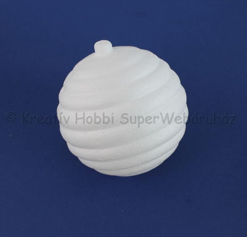 Hungarocell (polisztirol) gömb, kereszt csíkos