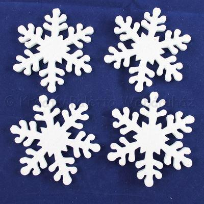 Hungarocell (polisztirol) hópehely 5 cm, 18 db/cs