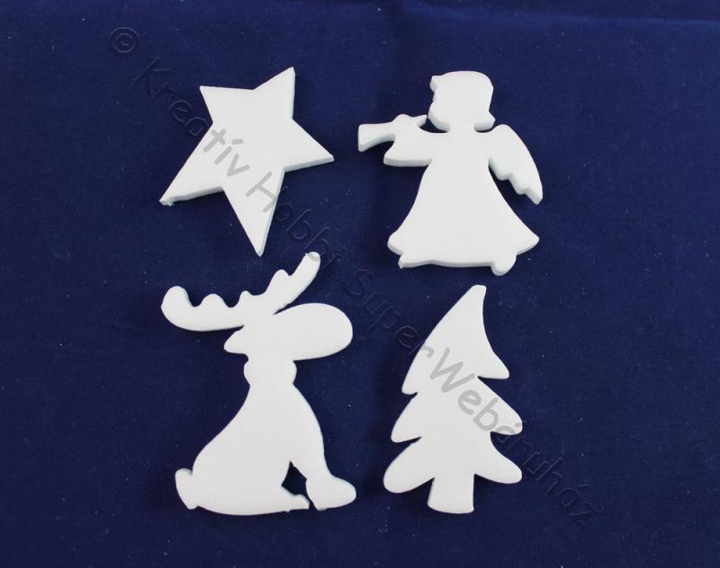 Hungarocell (polisztirol) karácsonyi figurák 13 cm, 4 db/cs