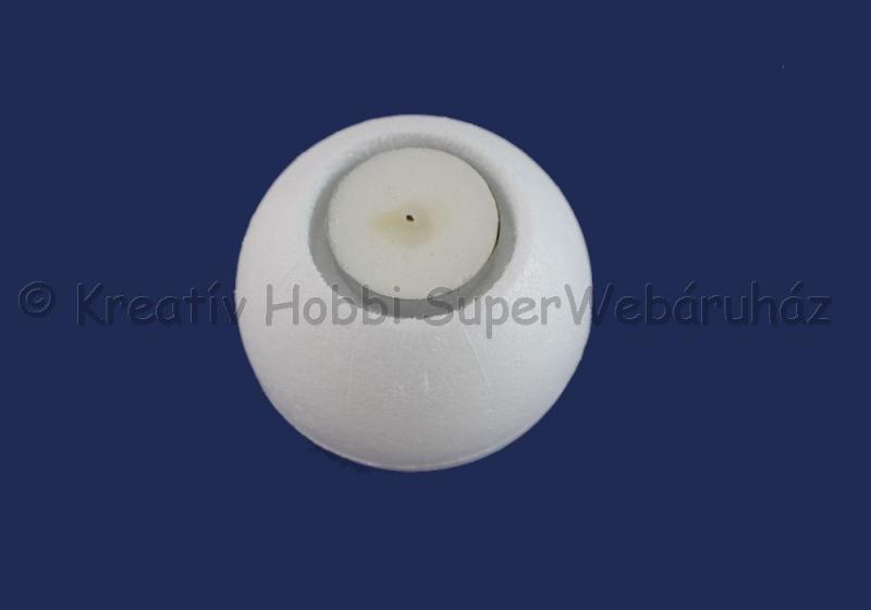Hungarocell- polisztirol mécsestartó gömb 8 cm
