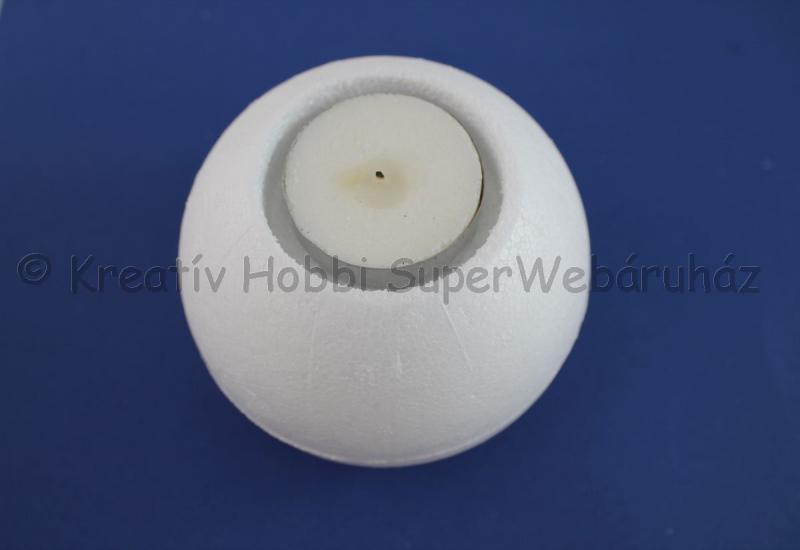 Hungarocell- polisztirol mécsestartó gömb 9 cm