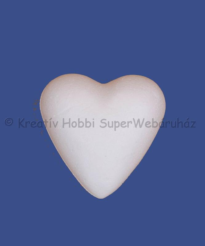 Hungarocell- polisztirol szív 7 cm