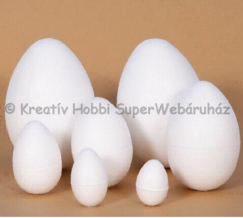 Hungarocell (polisztirol) tojás 8 cm