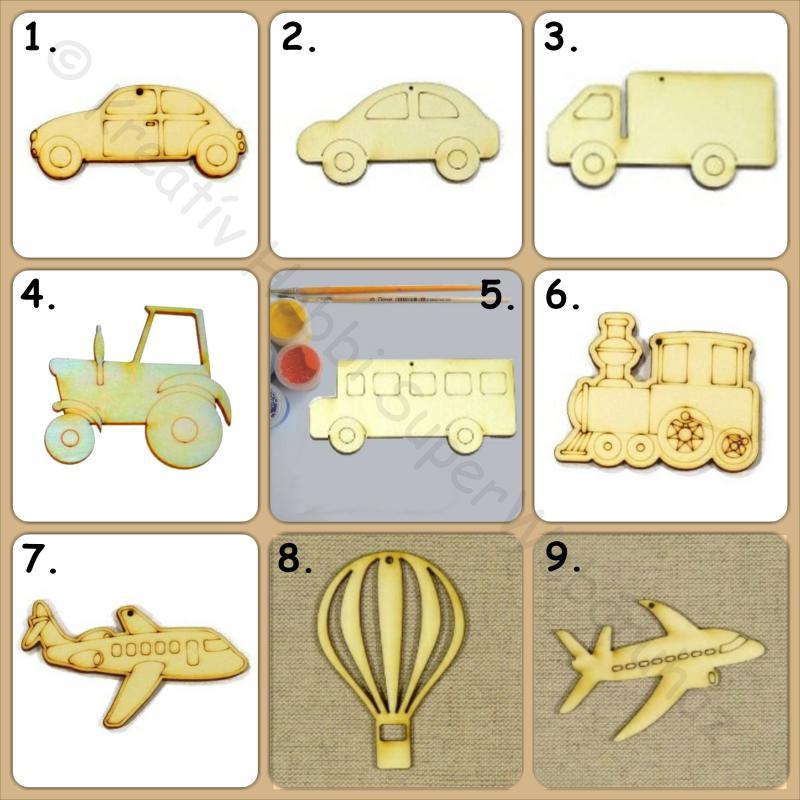Járművek fafigura többféle