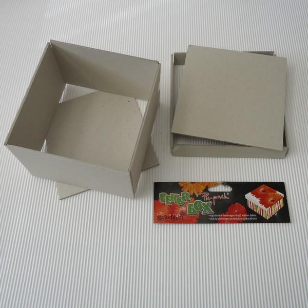 Kartondoboz négyzet 18x18x12 cm