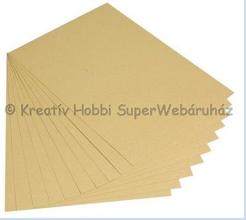 Kétoldalas tónuskarton A/4 220 g/m² - arany