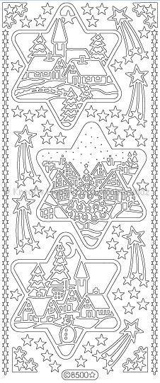 Kontúrmatrica - karácsonyi díszek, arany