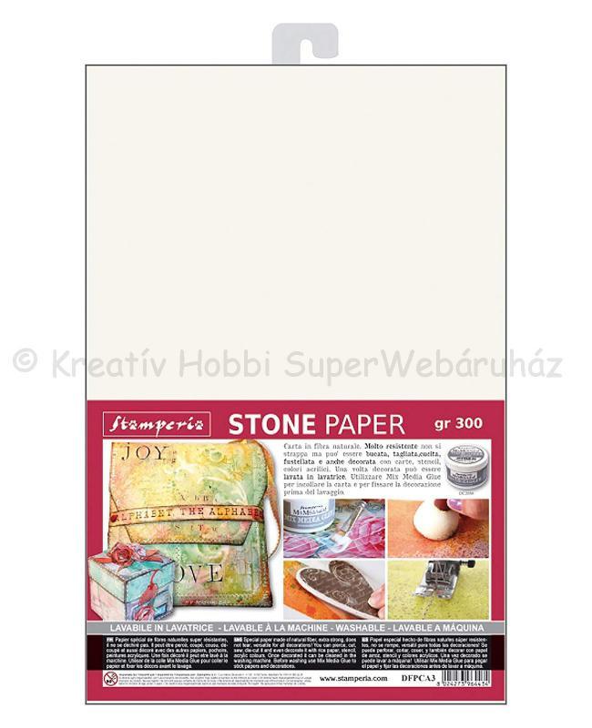 Kőpapír - varrható, mosható szuper papír, A3, 300 g