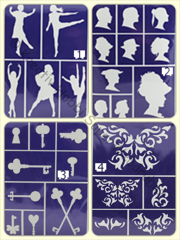 Öntapadó stencil - figurák A/5