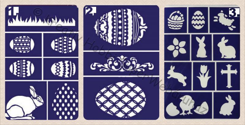 Öntapadó stencil - húsvét A/5