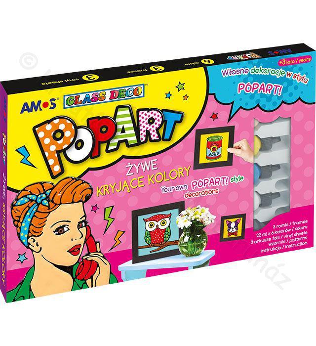 Pop Art üvegmatricafesték készlet 6 x 22 ml fekete képkeretekkel
